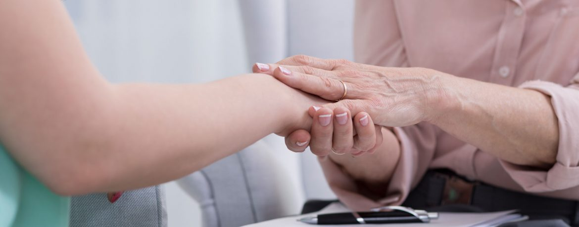 Loss and Bereavement hands image